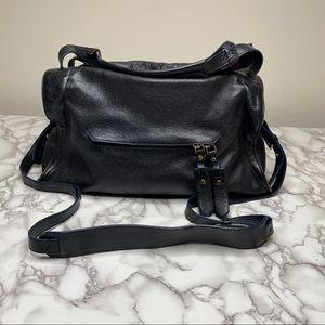 Sandro black leather satchel handbag